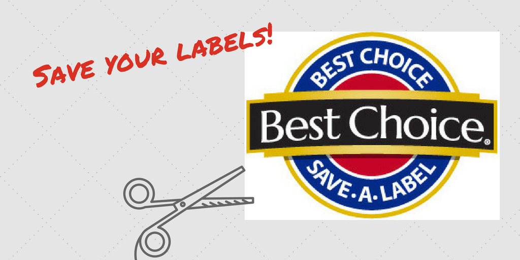 Save your labels - Best Choice Fundraiser - Branson-Hollister Senior Center